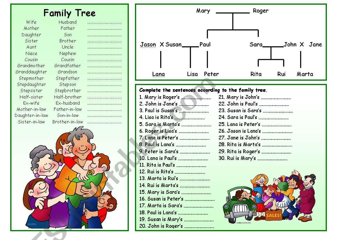 Family Tree worksheet