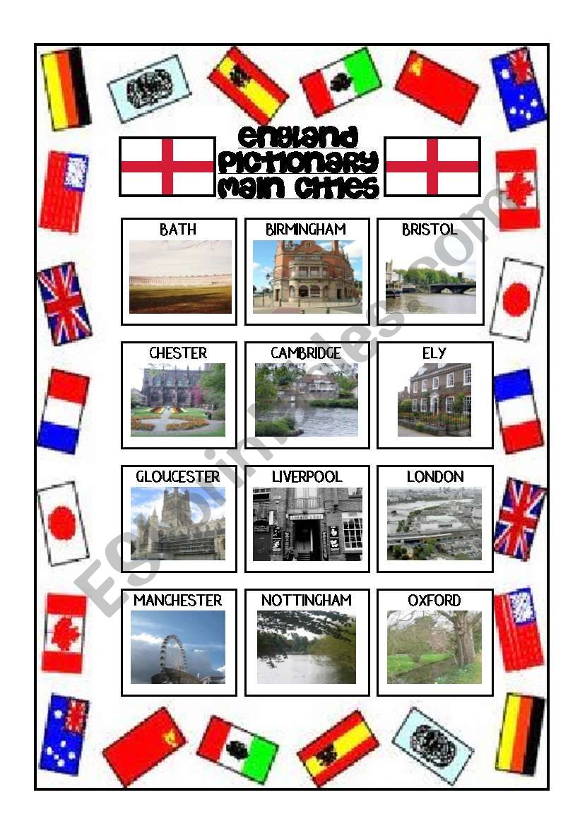 ENGLAND PICTIONARY - MAIN CITIES BY AGUILA