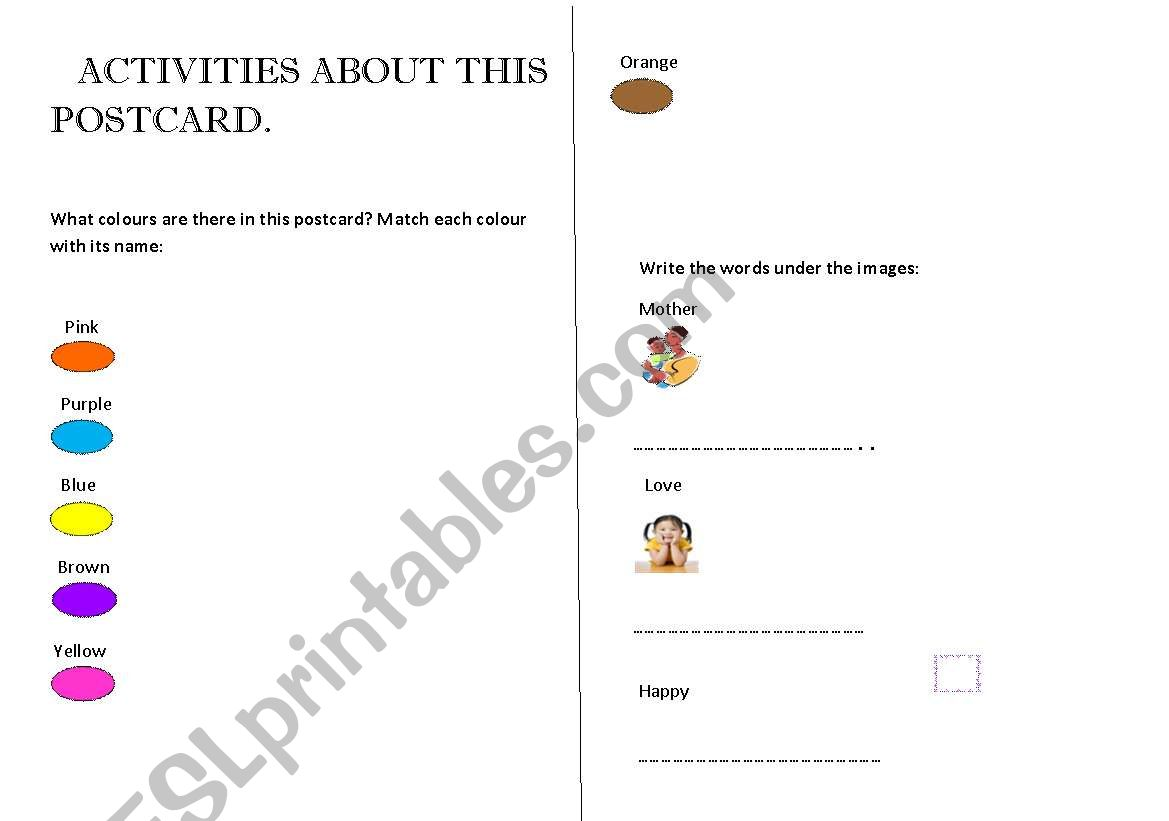 Mother´s Day second part worksheet