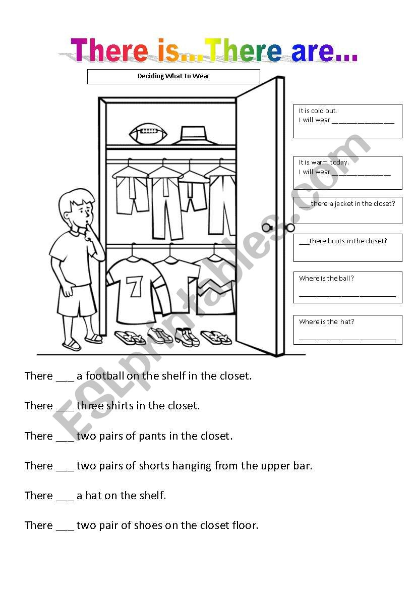 There is...There are... worksheet