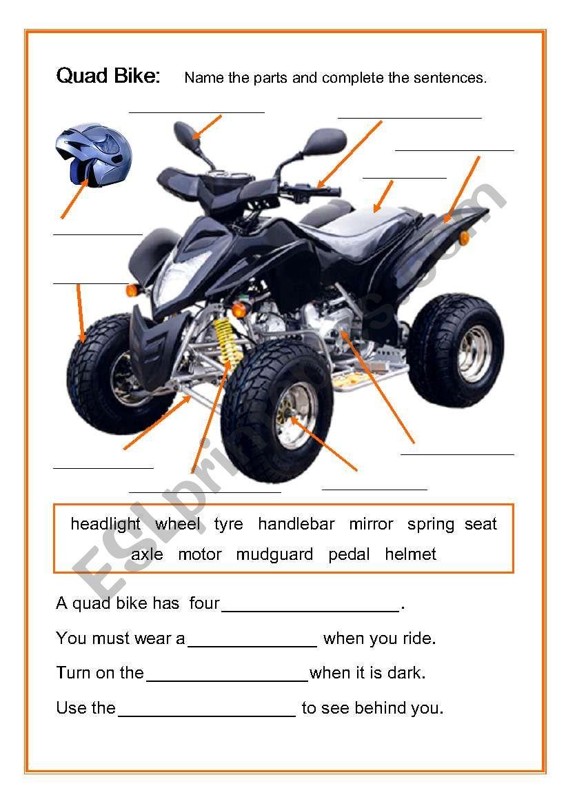 Quad Bike worksheet