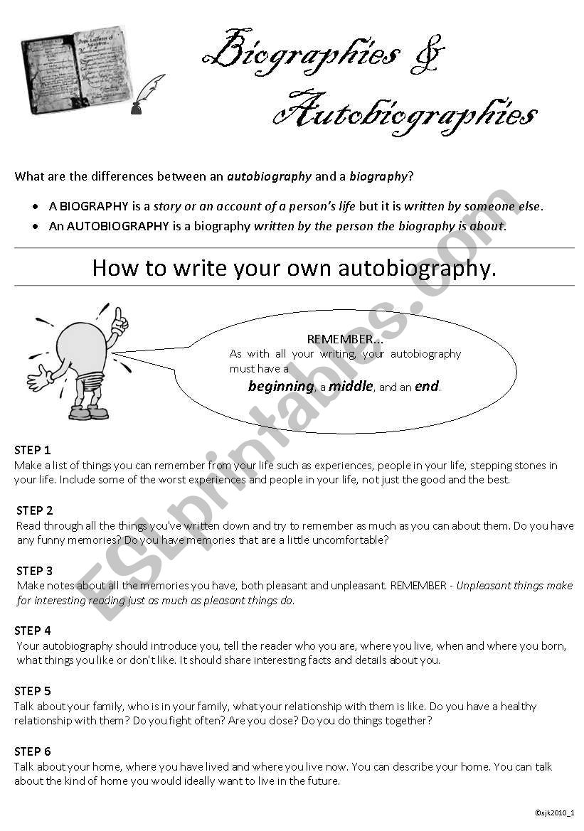 how to write your autobiography