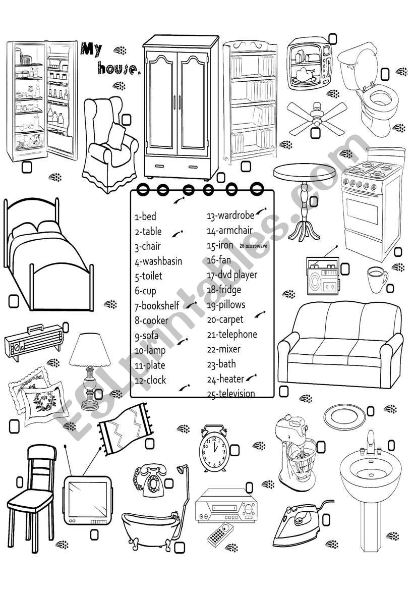furniture 3 worksheet