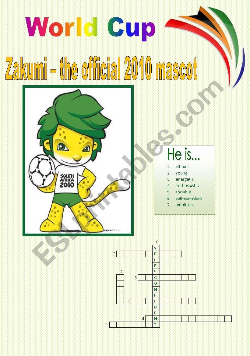 World Cup Zakumi - the official 2010 mascot