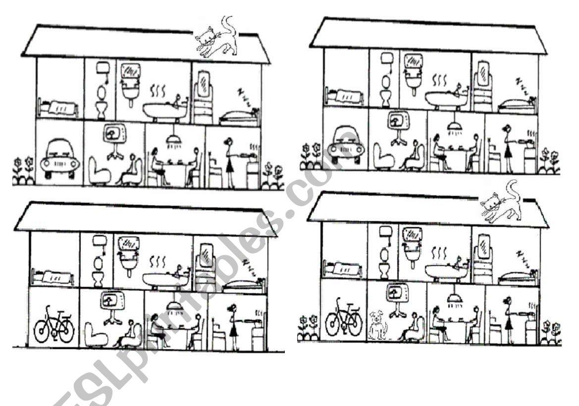 a game - describing a house worksheet