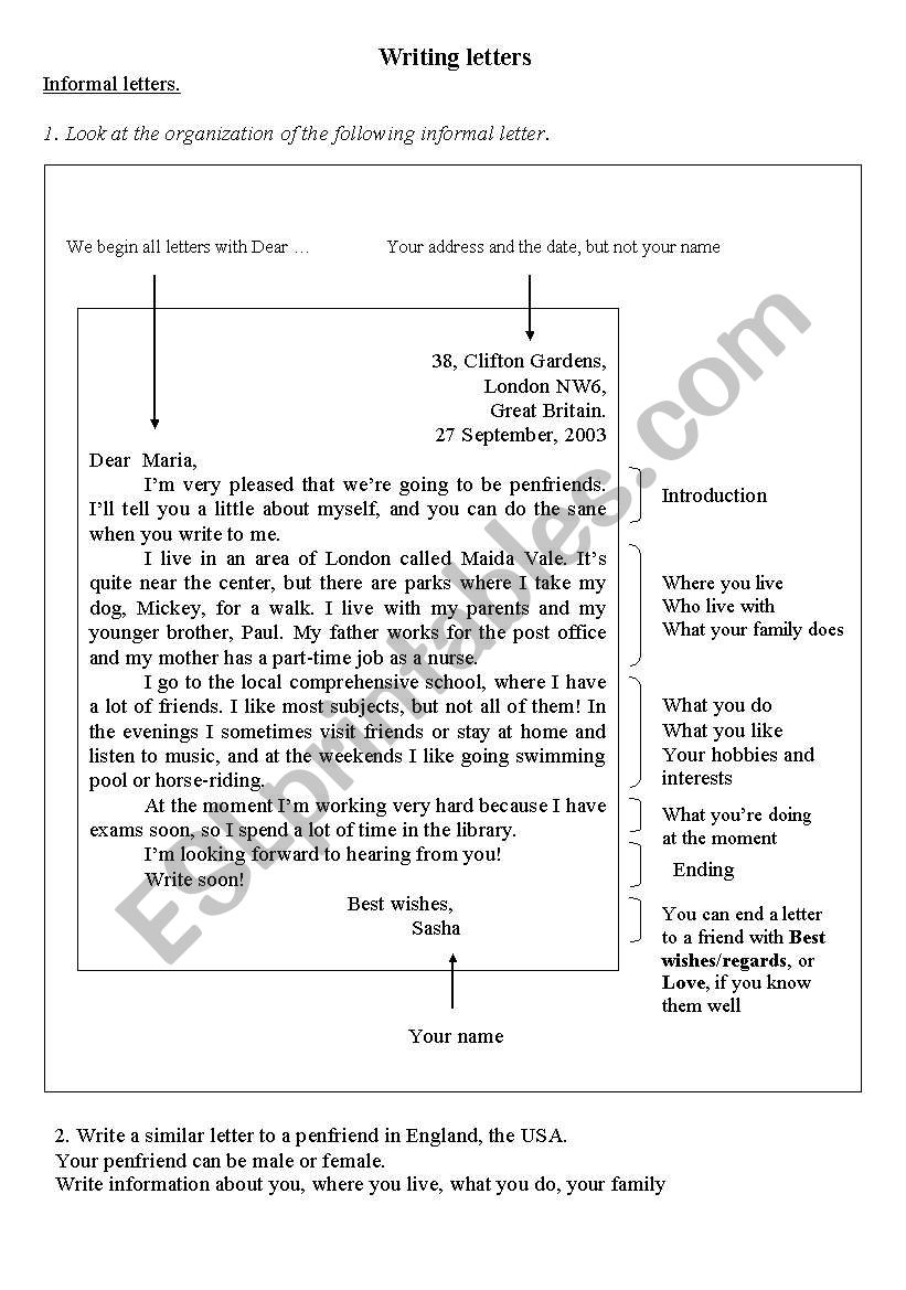 Writing Formal Letters  Esl Worksheet By Jugonda