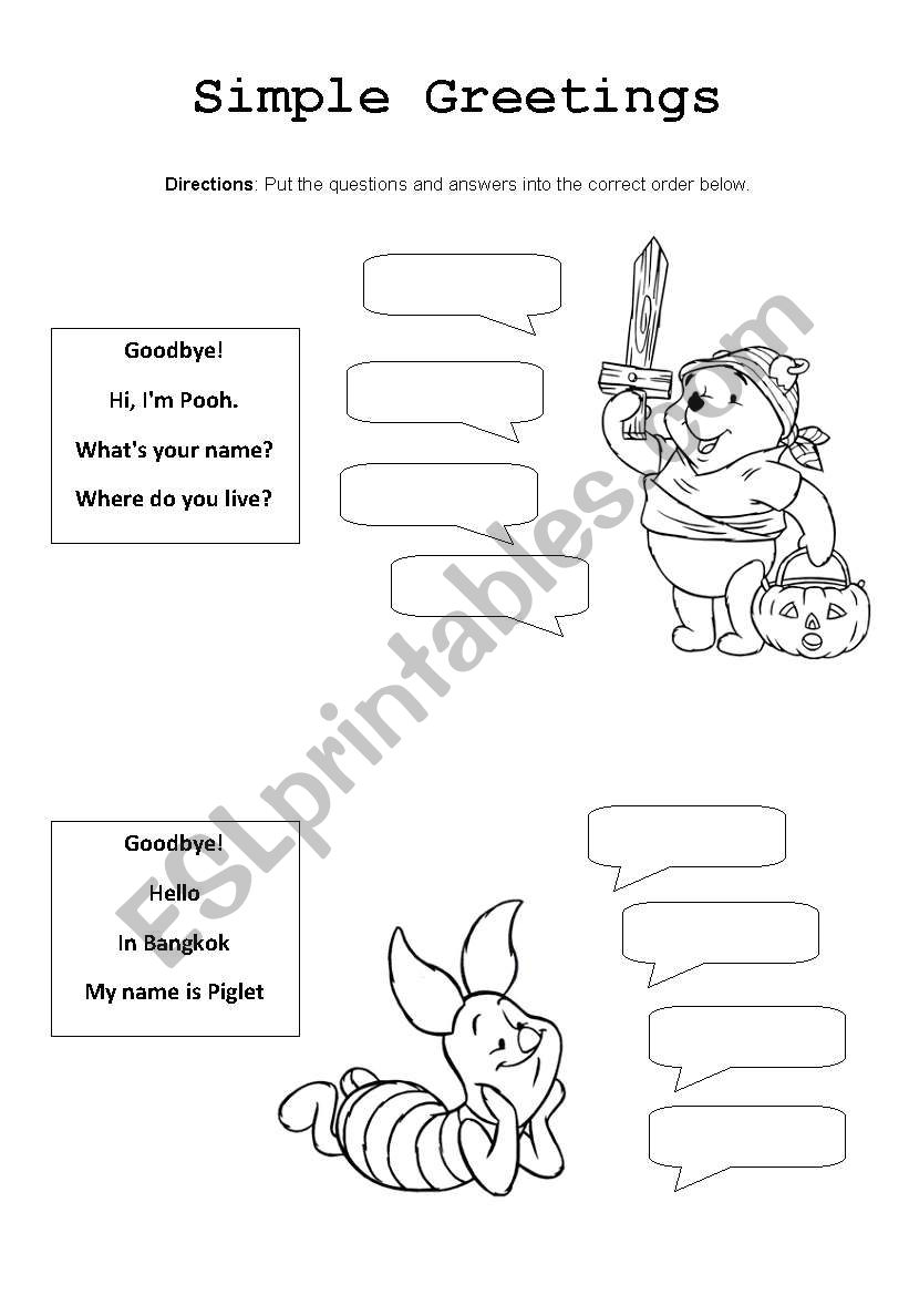 English greeting conversation worksheet sewdarncute basic greeting conversation esl worksheet by djad m4hsunfo
