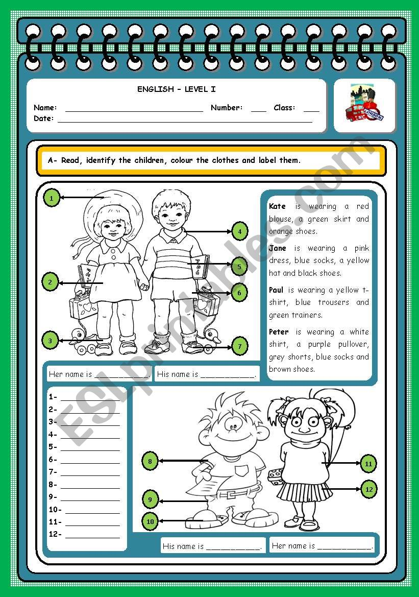 WHO IS WHO? (CLOTHES) worksheet