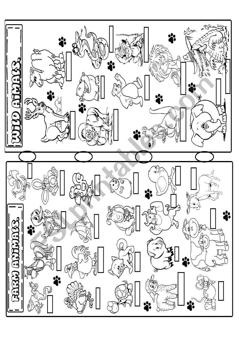 farm and wild animals worksheet