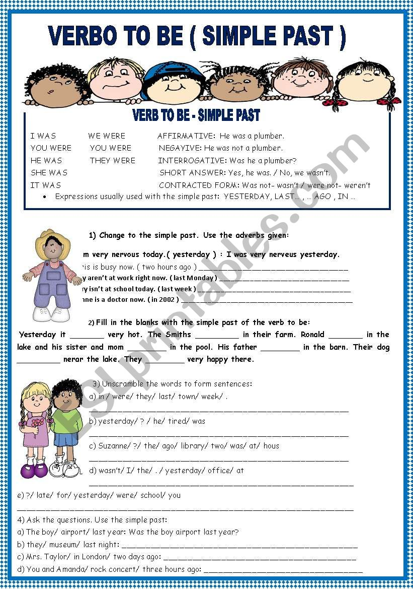 SIMPLE PAST worksheet