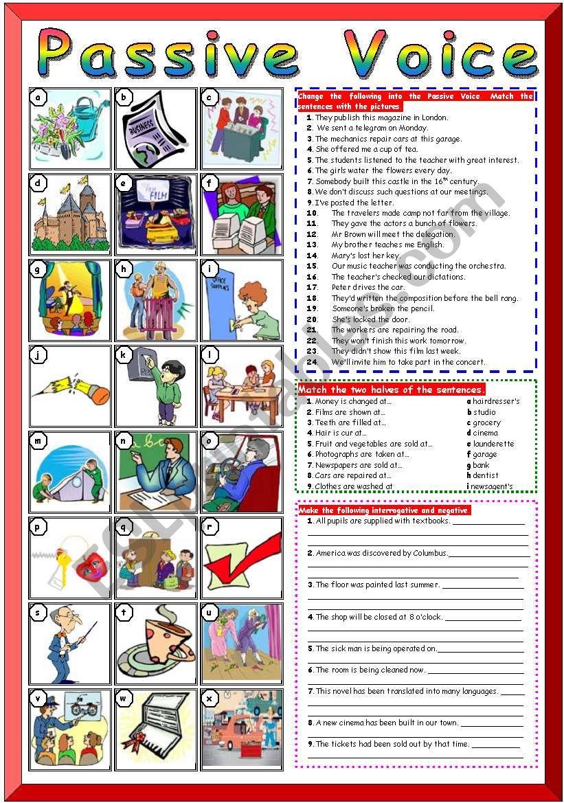 Passive Voice (KEYS) worksheet