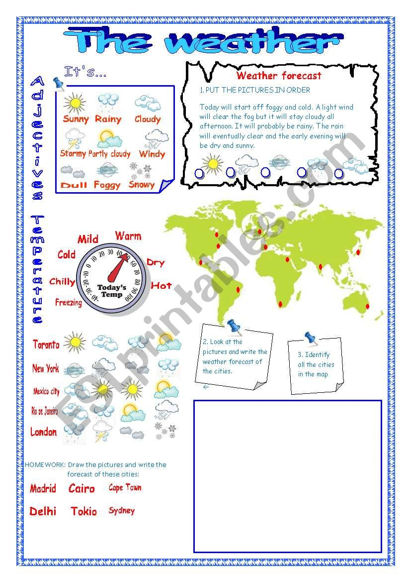 WEATHER FORECAST :D worksheet