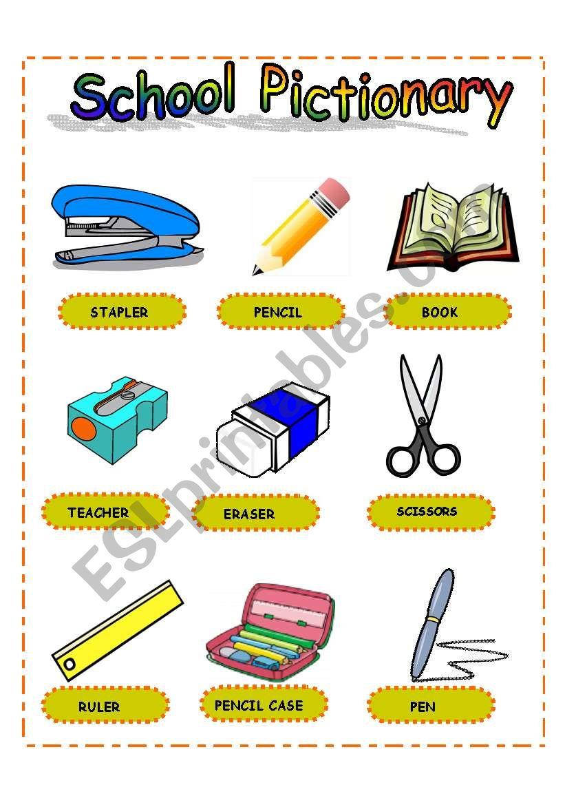 Pictionary School II worksheet