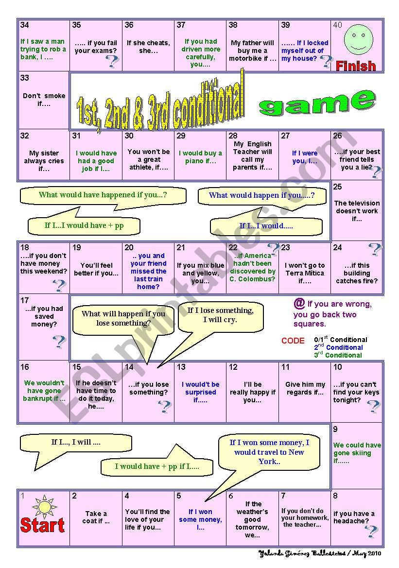 1ST, 2ND AND THIRD CONDITIONAL GAME