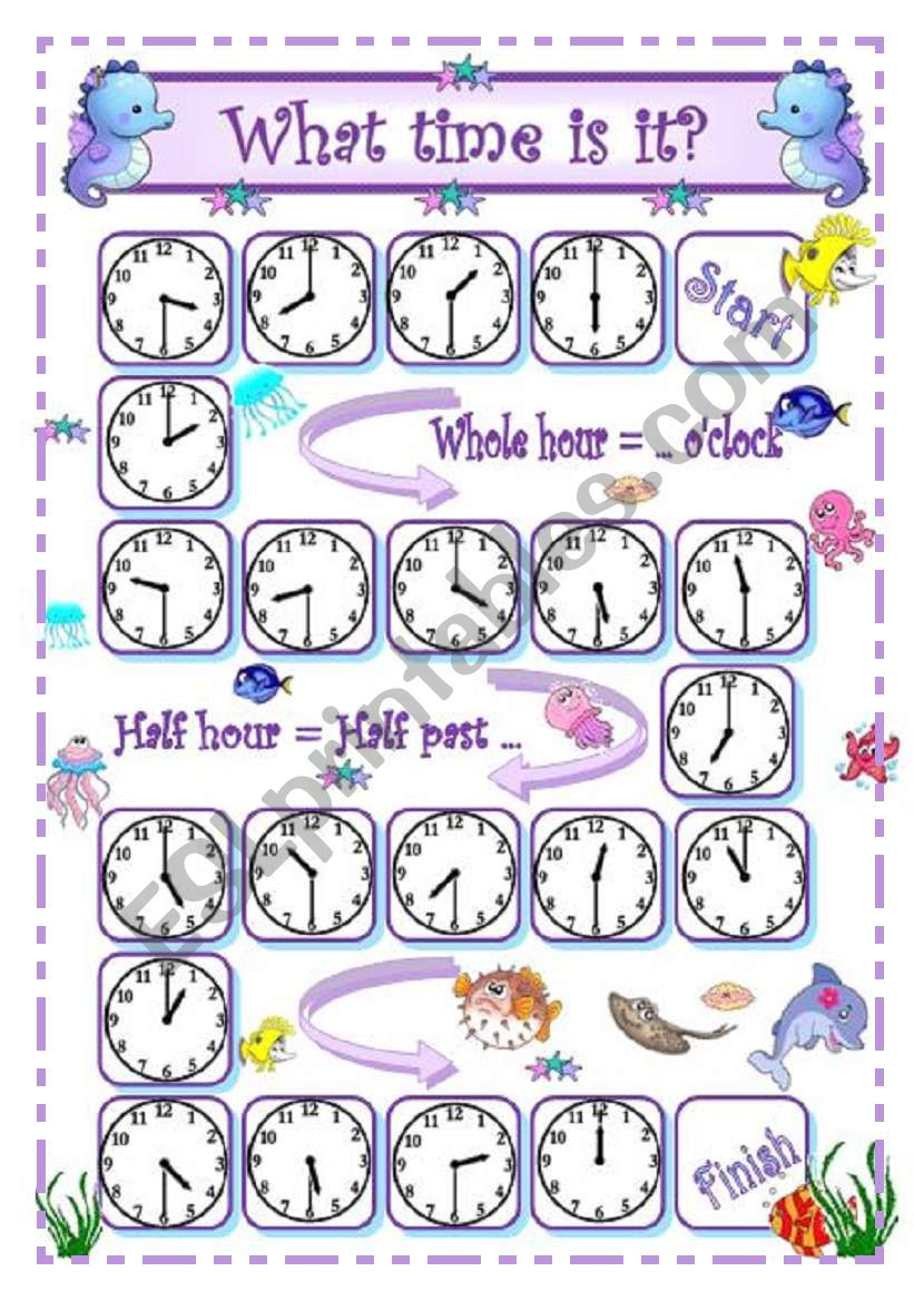 What time is it? - 1 - Whole hour and half hour oral practice