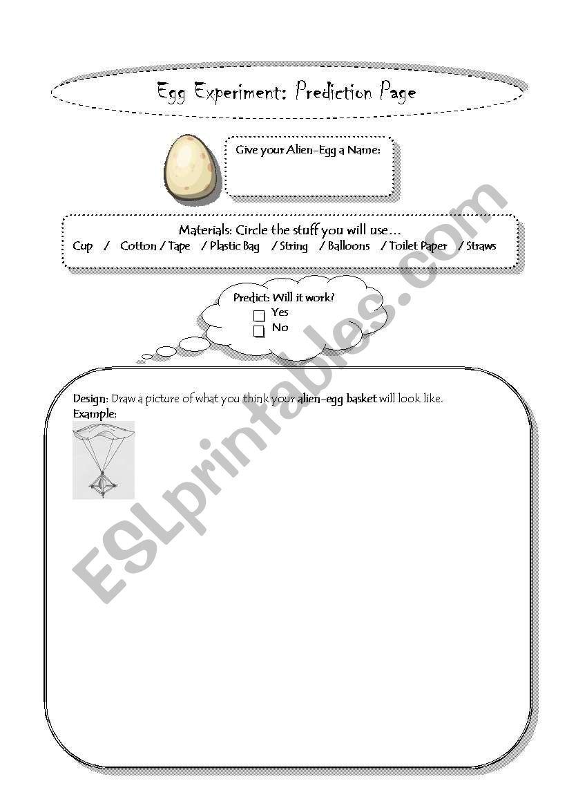 egg drop experiment esl worksheet by joybot0. Black Bedroom Furniture Sets. Home Design Ideas