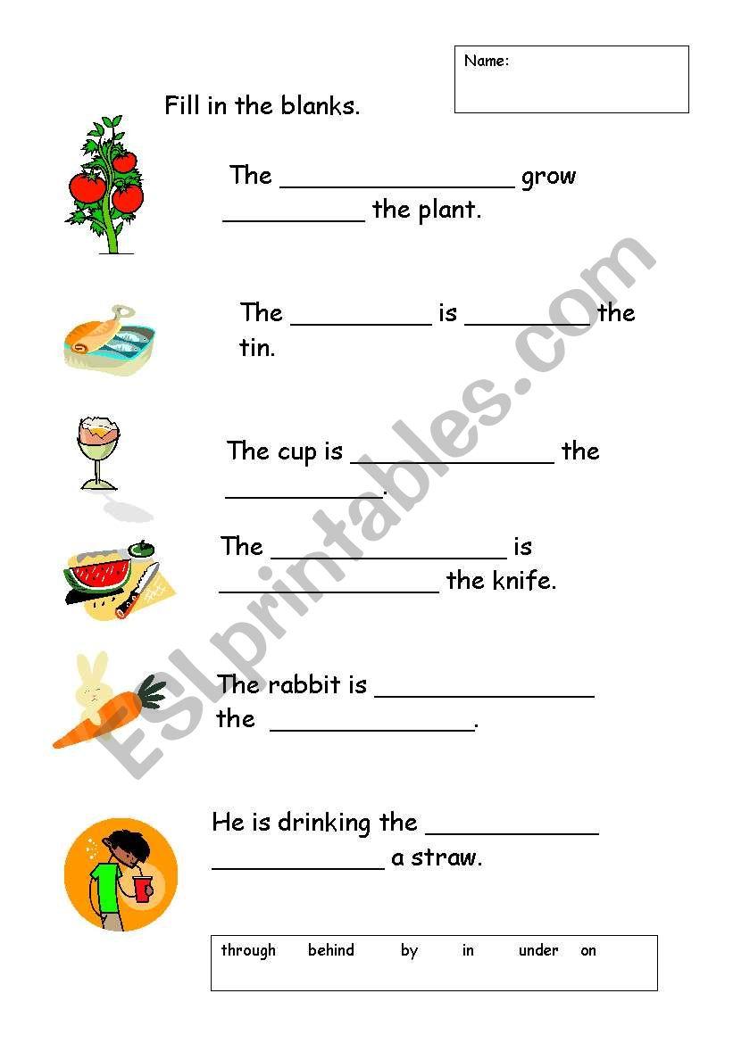 Food Vocab And Prepositions Esl Worksheet By Heatherboadle