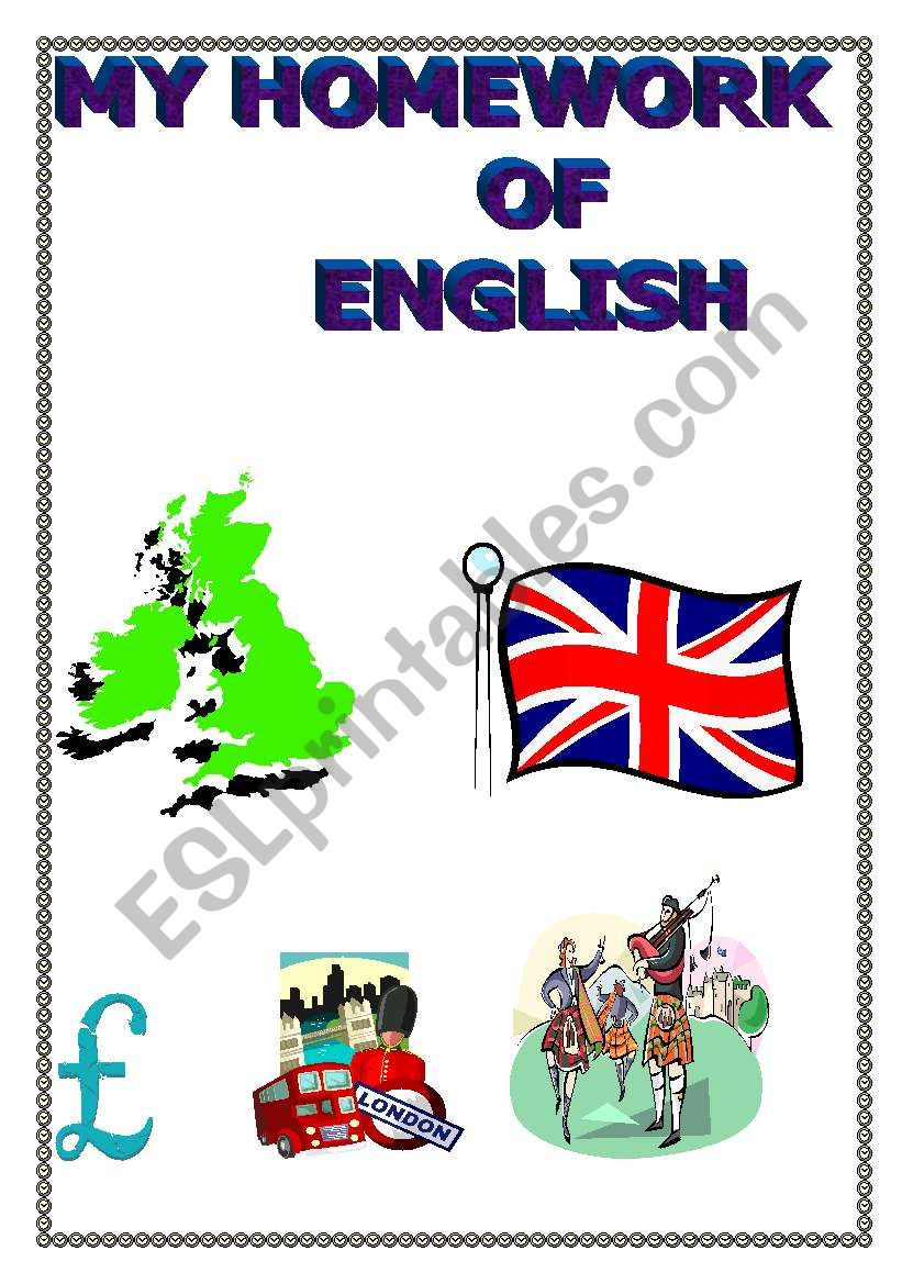 My Homework Of English Esl Worksheet By Laly59