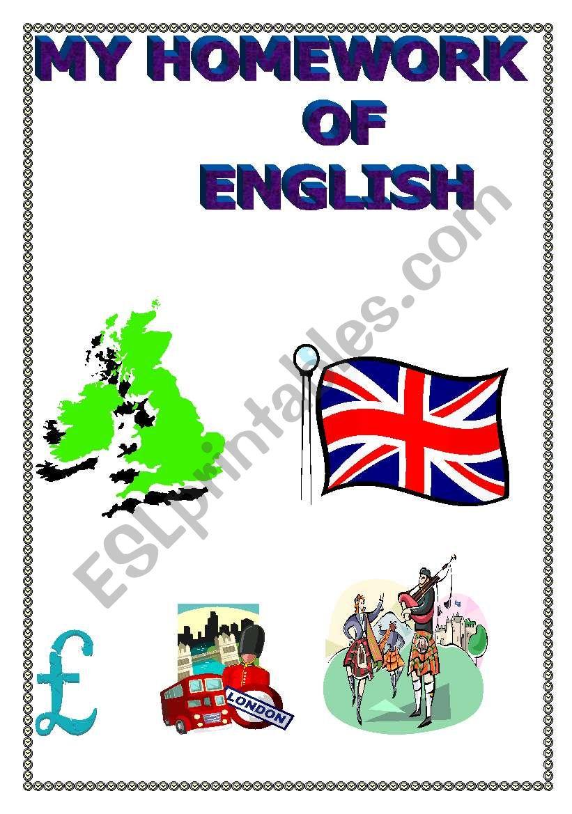 My homework of English worksheet