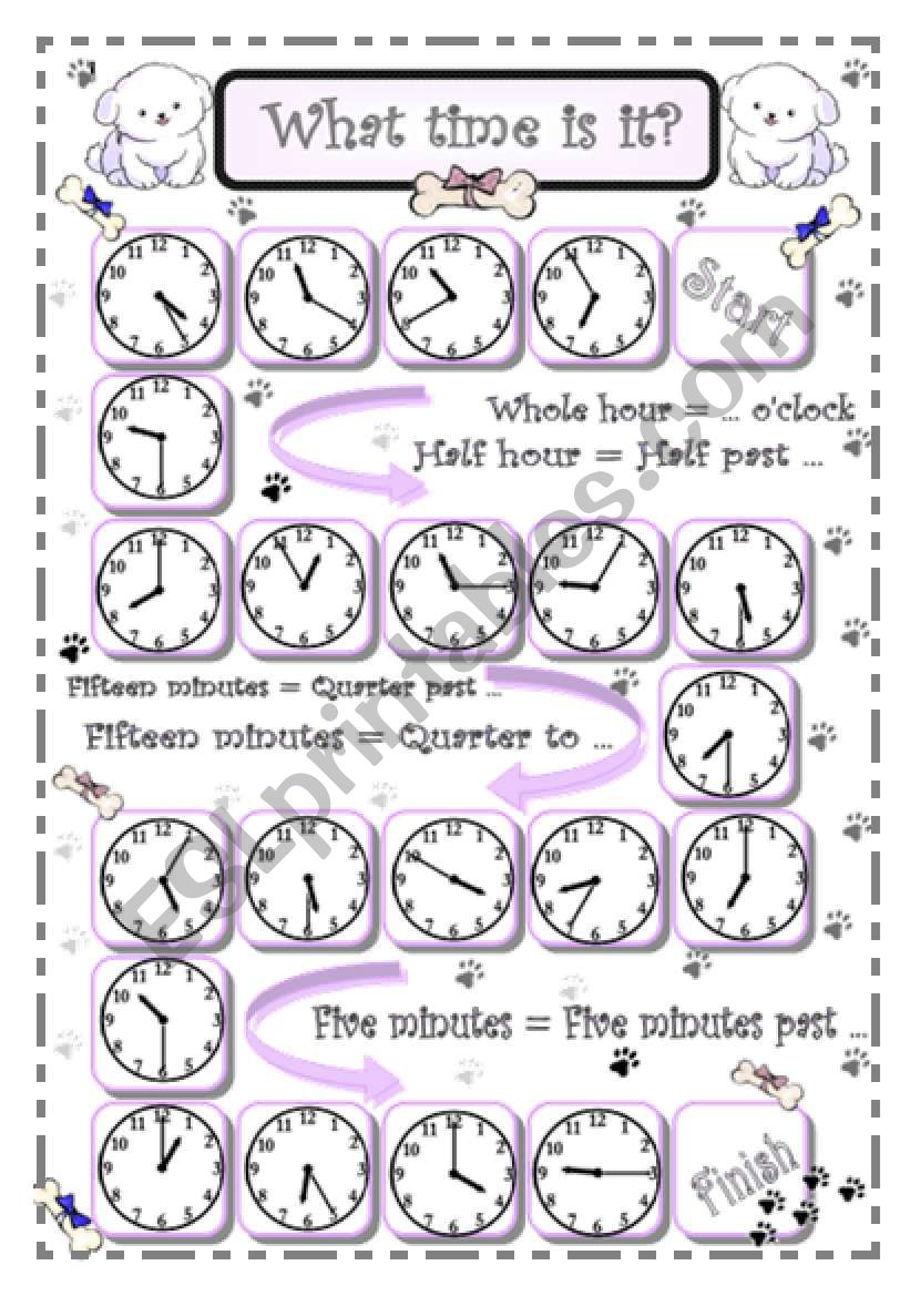 What time is it? - 3 - Five minutes intervals - oral communication