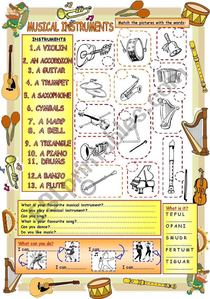 Elementary Vocabulary Series3 - Musical Instruments