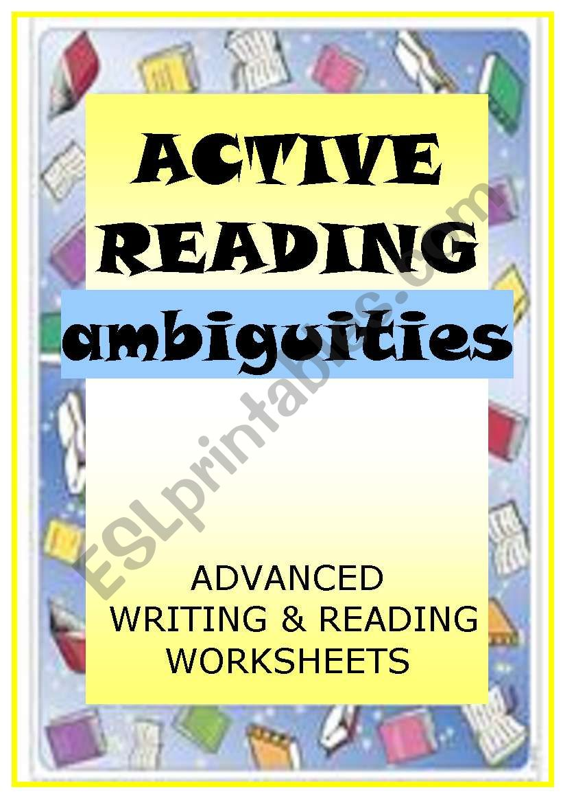 ACTIVE READING - ambiguities worksheet
