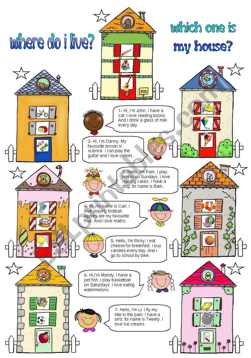 Which one is my house? worksheet