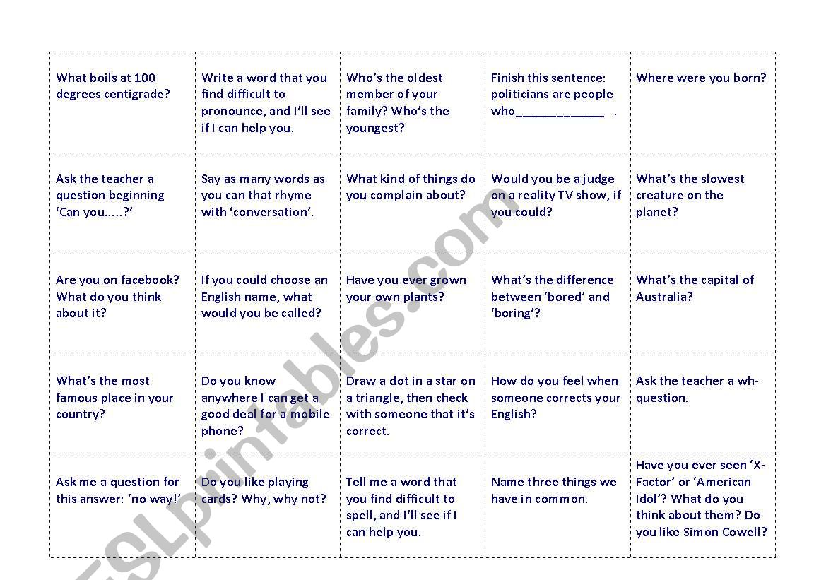 Another 100 talking points - conversation cards
