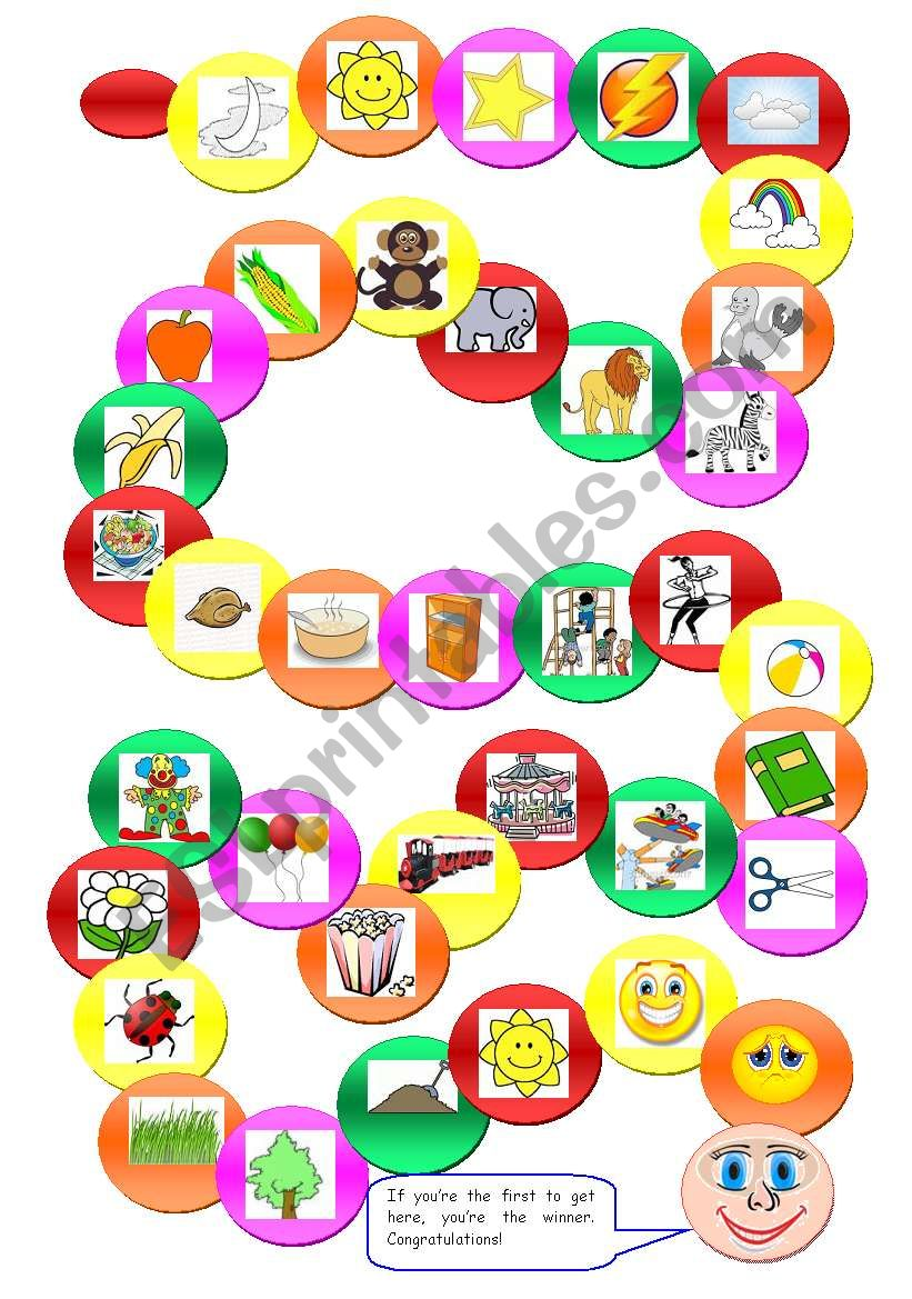 vocabulary board game worksheet