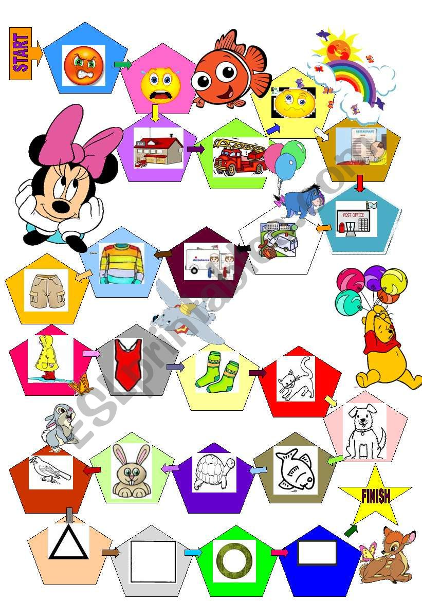 funny vocabulary board game for kids