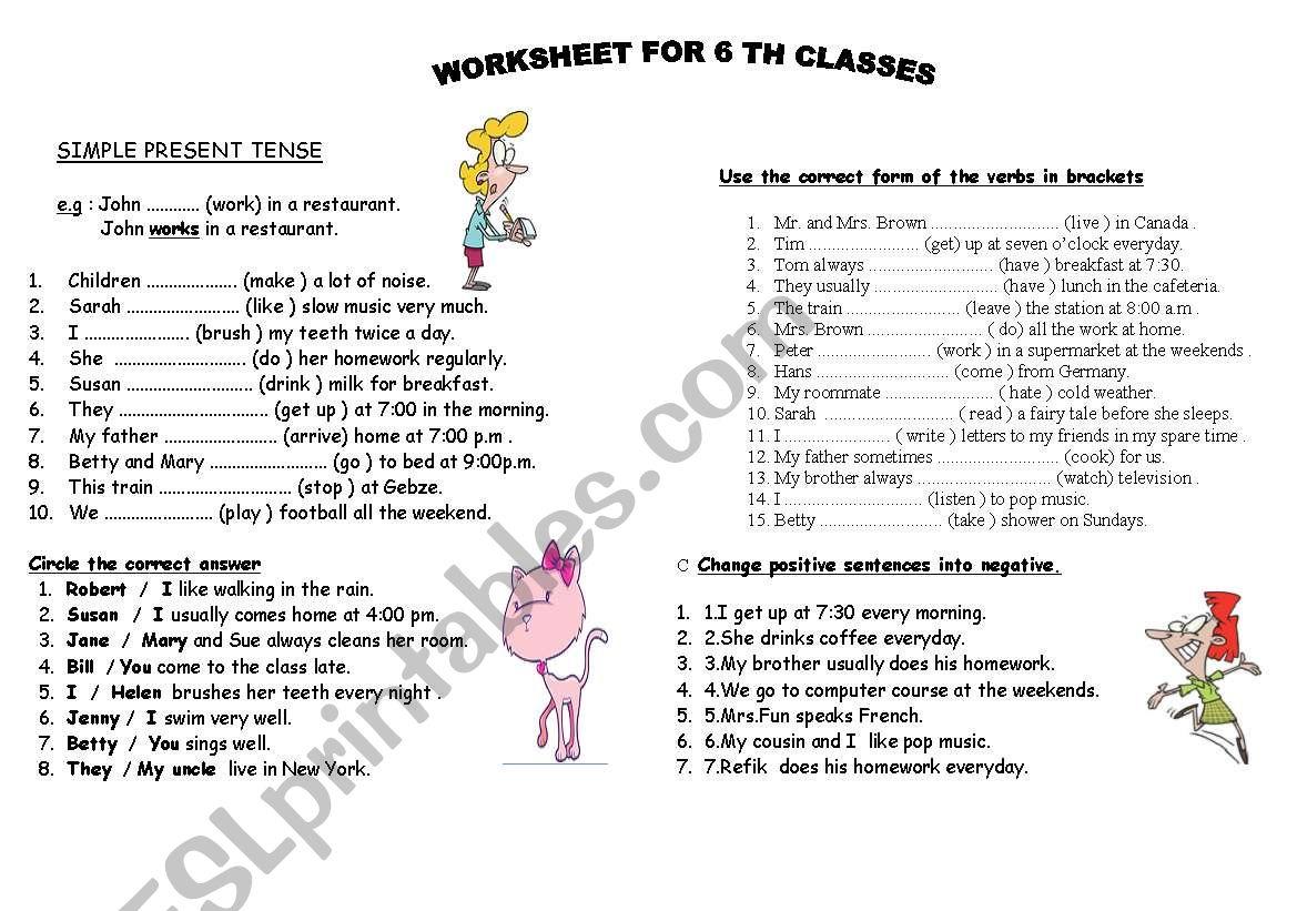 simple present tense - ESL worksheet by vietyini3