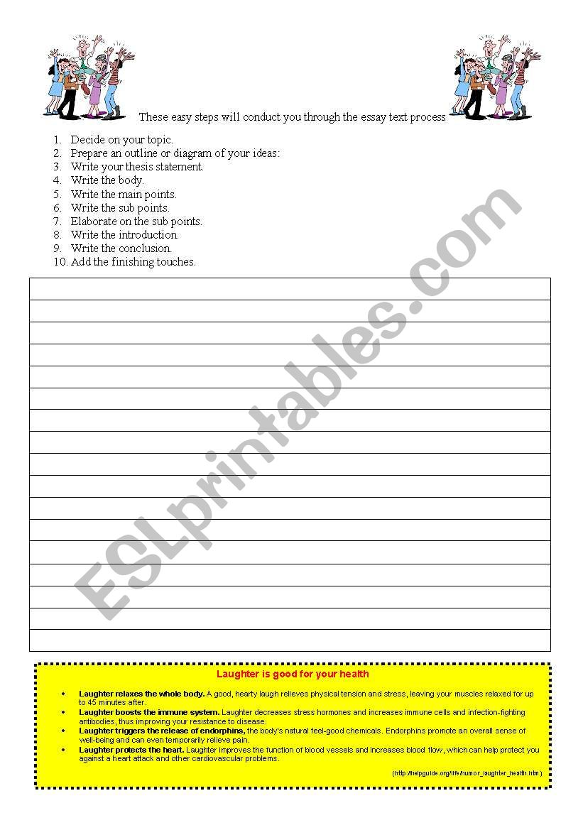 How to write an essay! worksheet
