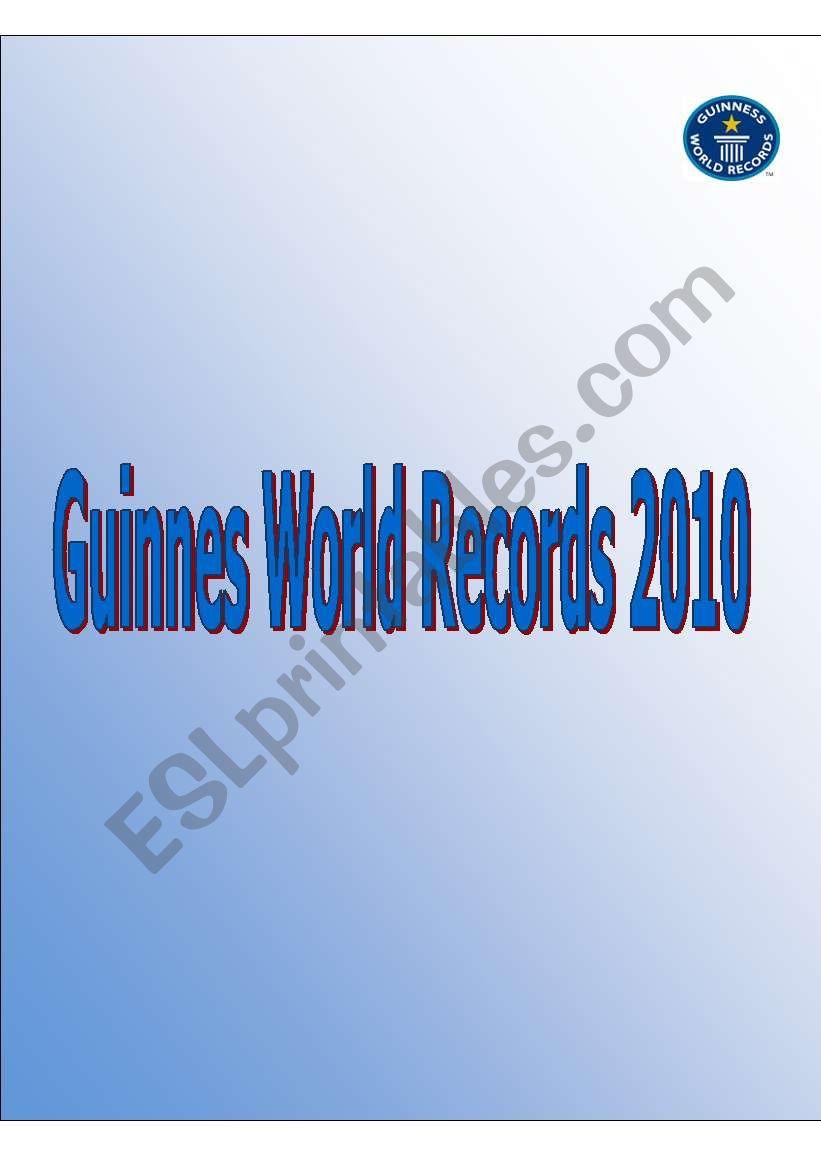 Guinnes World Records 2010 worksheet