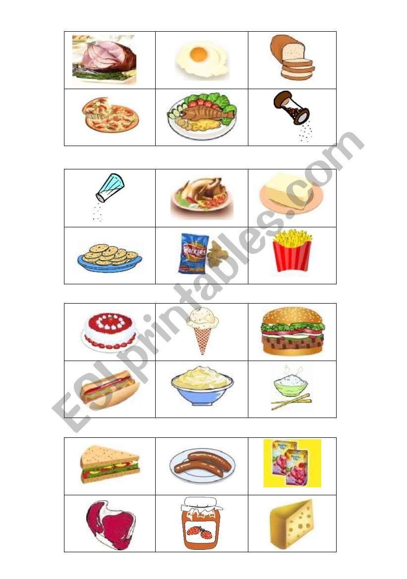Bingo : food and drinks - ESL worksheet by Faurfab