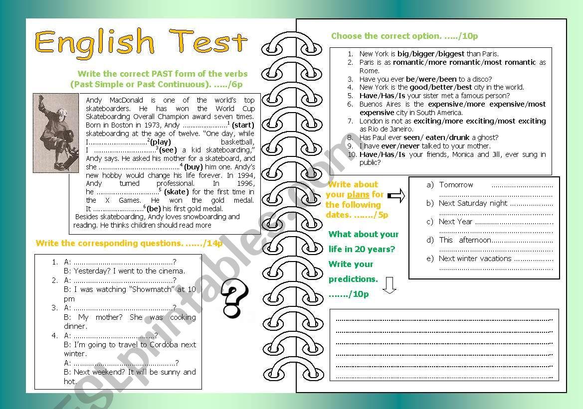 SImple Past Past Continuous worksheet