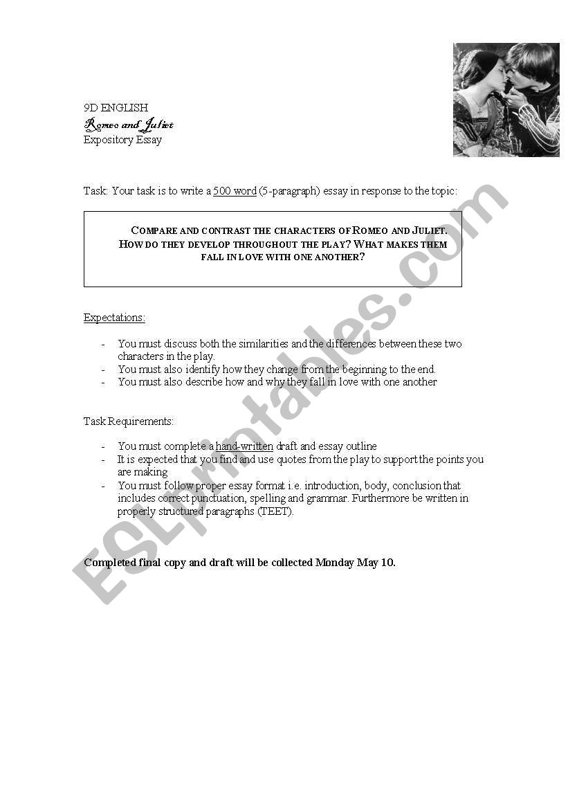 english worksheets romeo and juliet romeo and juliet worksheet