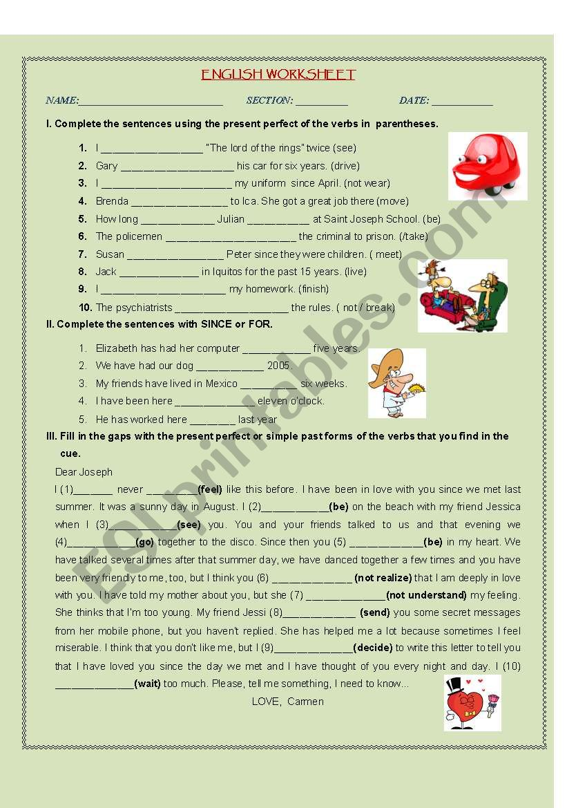 Present Perfect and Simple Past
