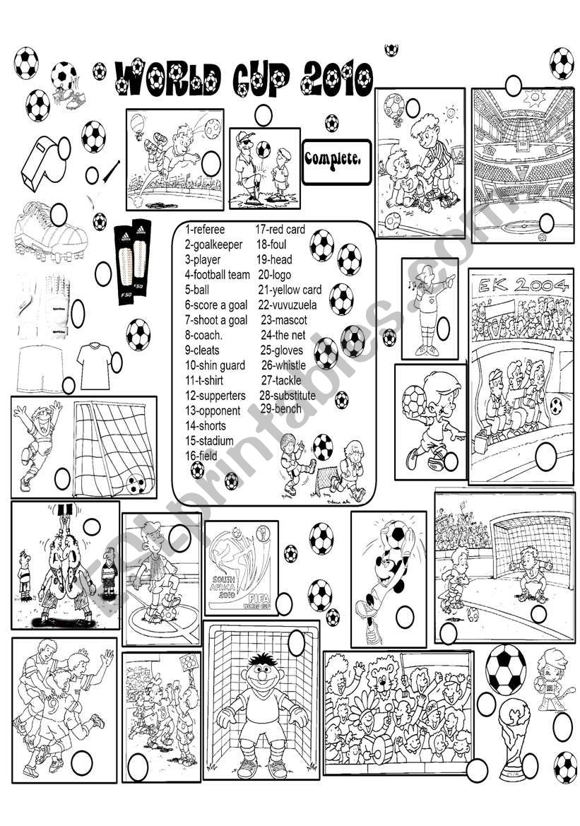 world cup worksheet