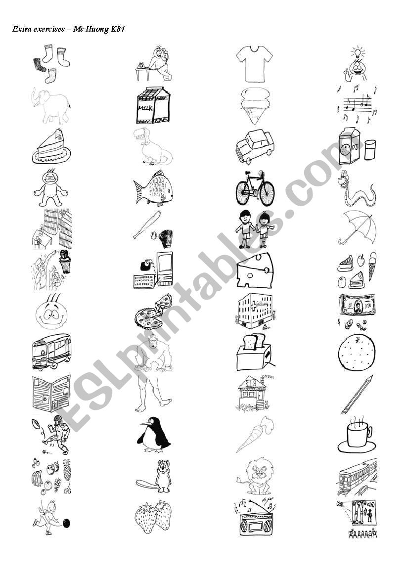 5 pages and 4 exercises about learning vocabulary based on images