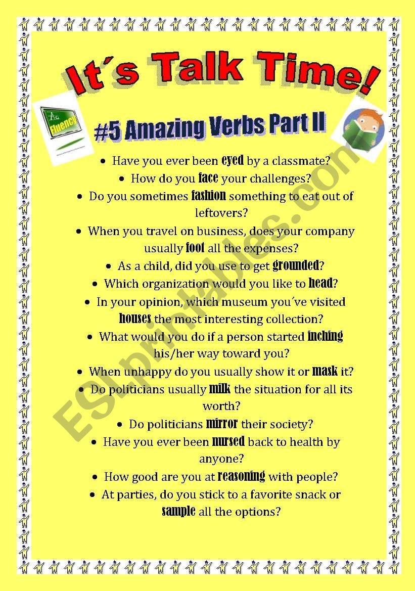 Talk Time #5 - Amazing Verbs Part II
