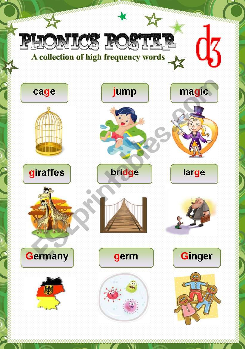 PHONICS POSTER 1 worksheet
