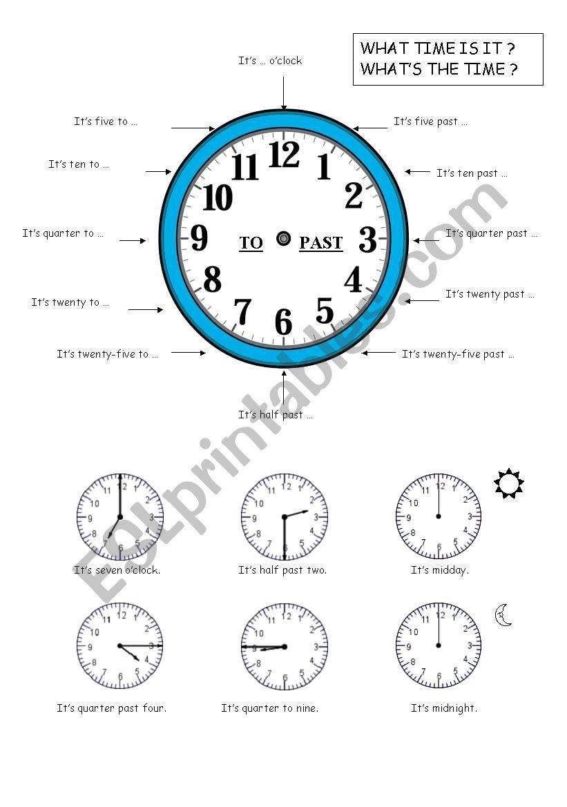 teaching time worksheet