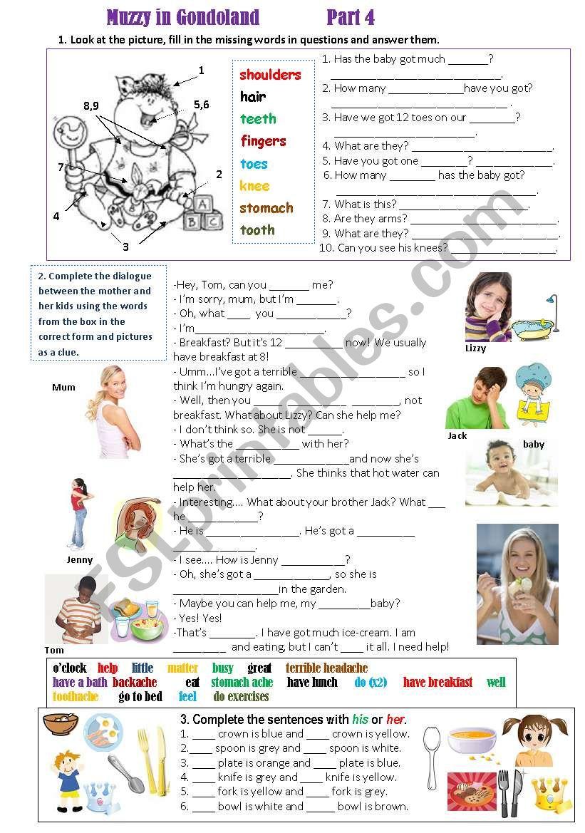 Muzzy in Gondoland  (Part 4) worksheet