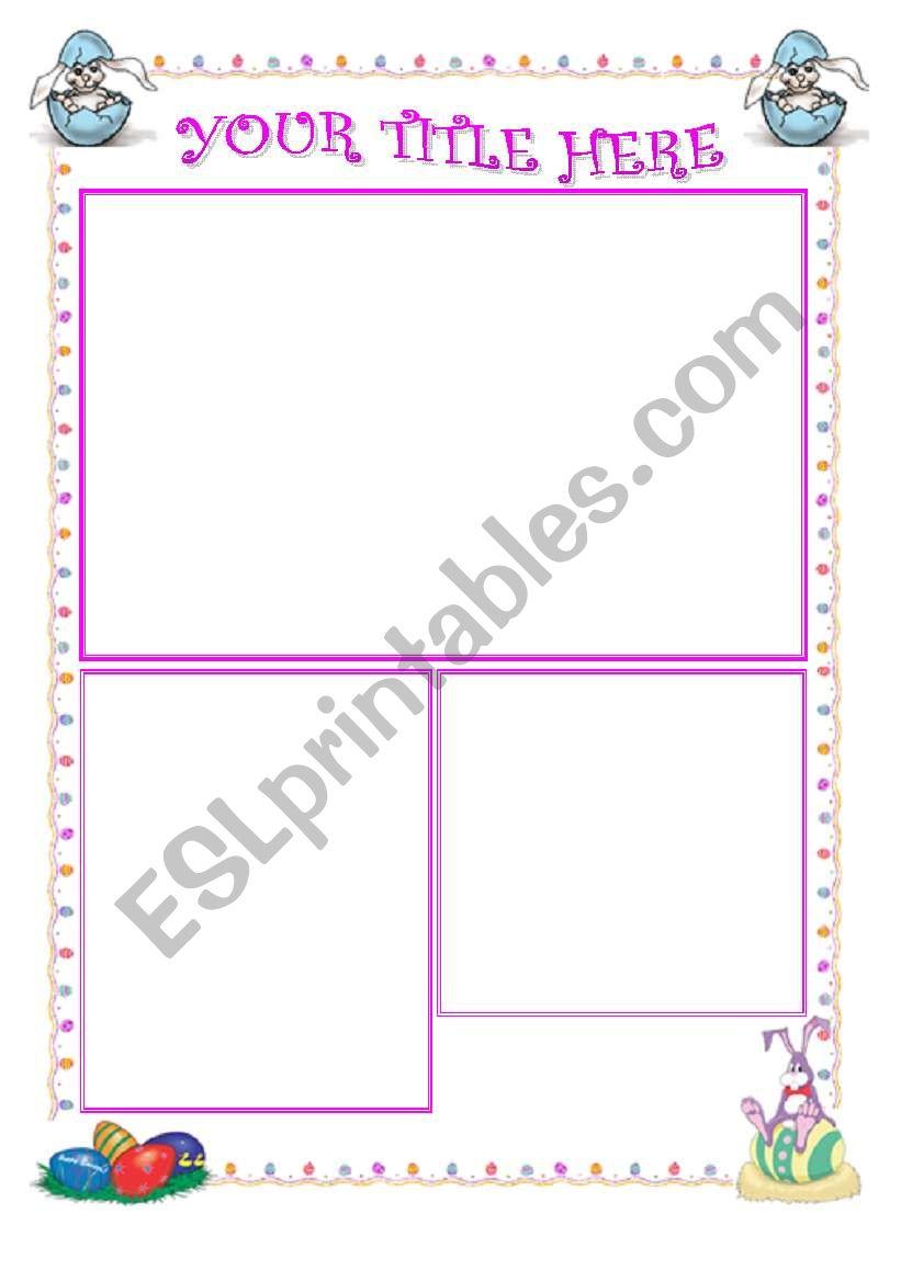 easter template (editable) worksheet