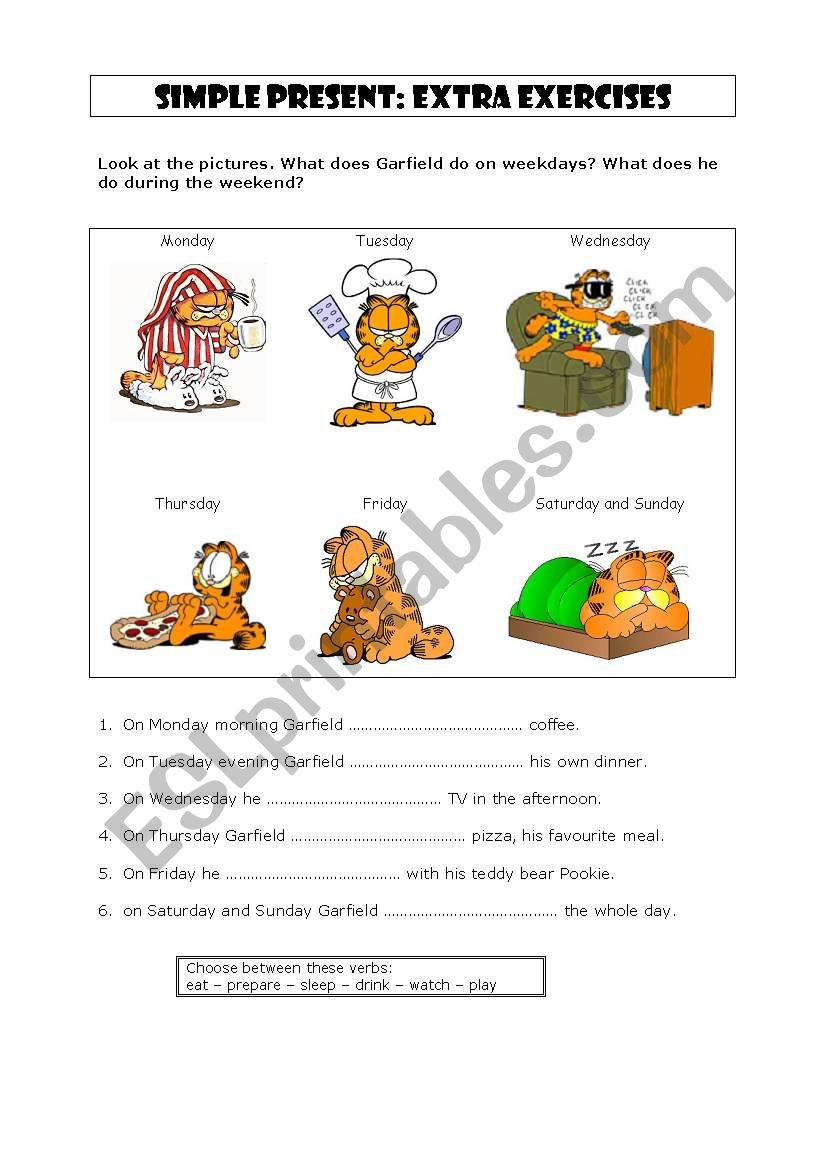 Simple present - third person worksheet