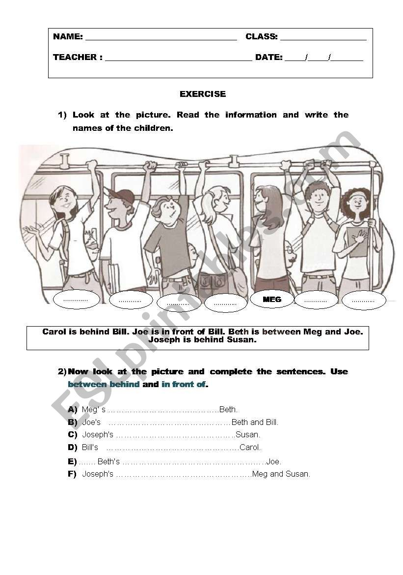 Look at the picture worksheet