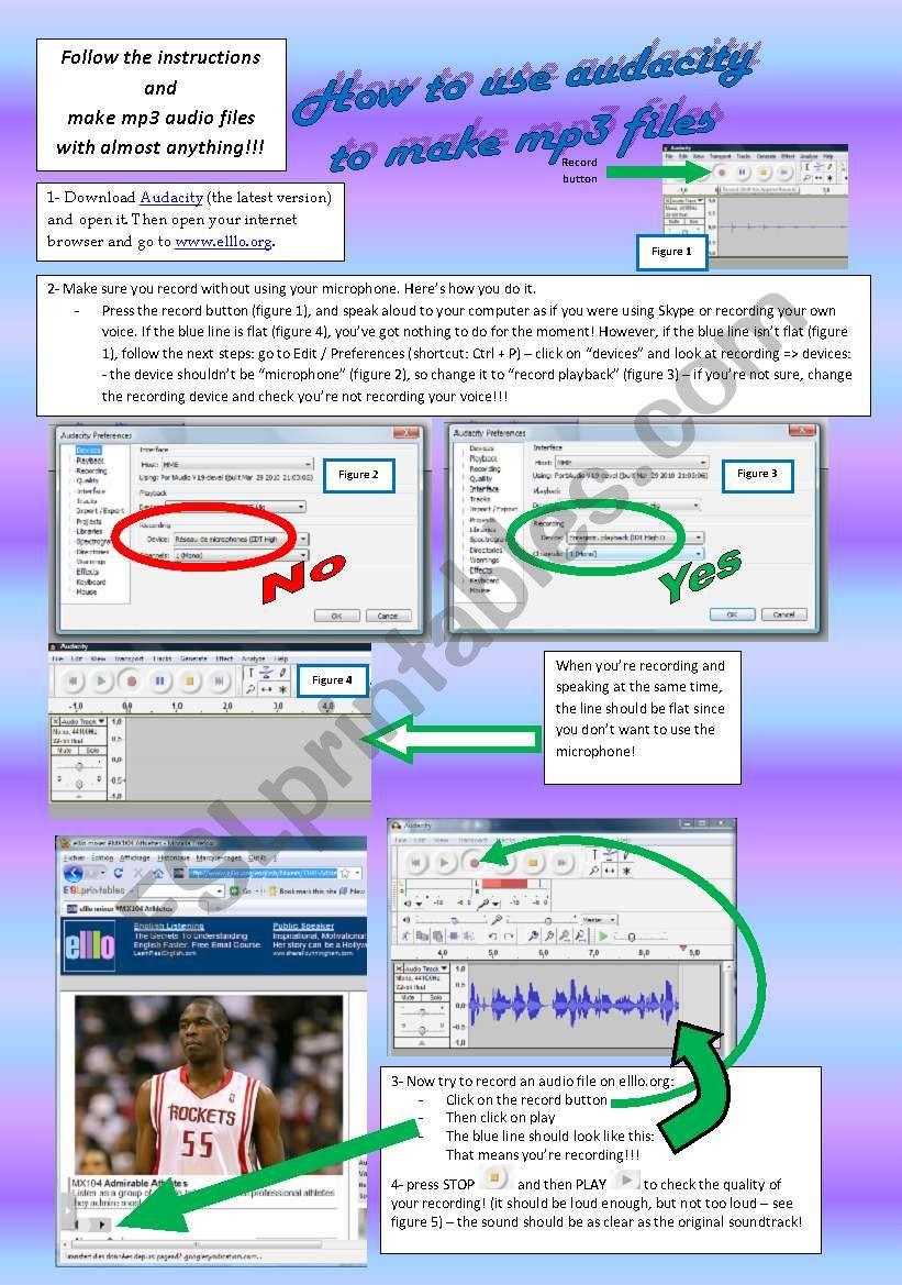 tutorial AUDACITY - page 1 worksheet