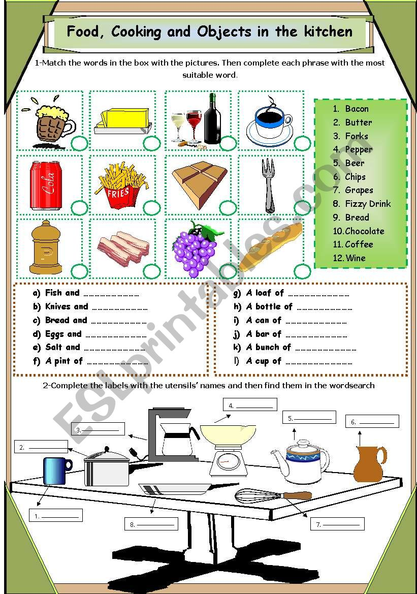 Food, Cooking and Objects in the Kitchen