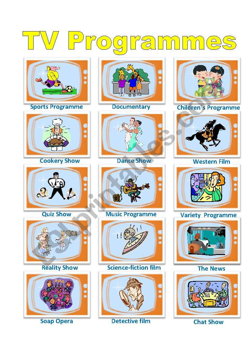 TV Programmes Poster worksheet