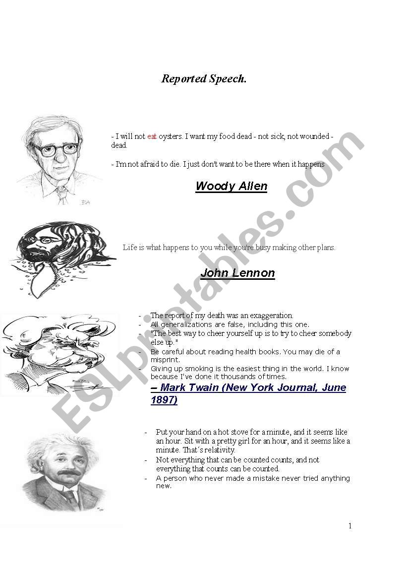 Brainy Quotes Master Piece Esl Worksheet By Sergiopicarzo